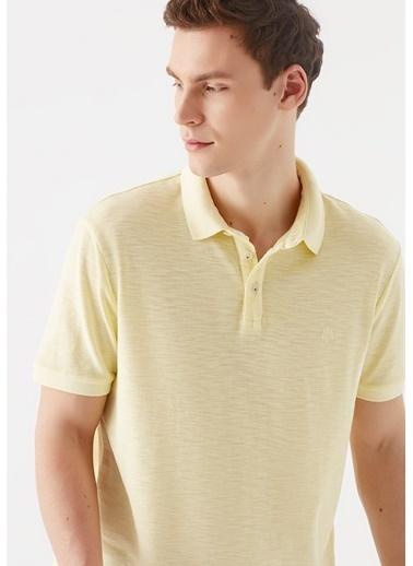Mavi  Polo Tişört Sarı
